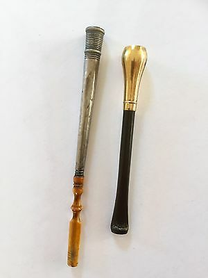 Antique Cigarette Holder Mouthpieces Silver And Gold Plating? Henry Perkins&Sons
