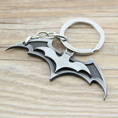 Batman Marvel Keychain Trinket Superhero Car Key Chain Key Ring Gift SILVER NEW