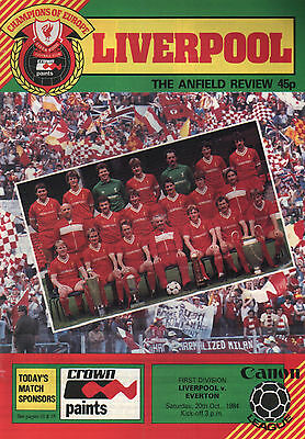 1984/85 Liverpool v Everton, Division 1, PERFECT CONDITION