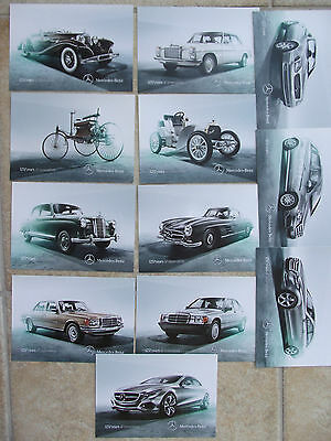 FULL PACK 125 years innovation Mercedes-Benz German Automobile Postcard LOT 12