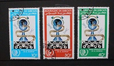 DJIBOUTI 1985 International Youth Year. Set of 3. Fine USED/CTO. SG948/950.