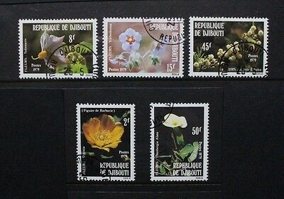 DJIBOUTI 1979 Flowers. Set of 5. Fine USED/CTO. SG765/769.
