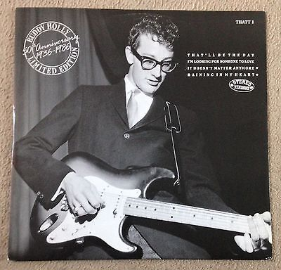 "ULTRA RARE BUDDY HOLLY 50th Anniversary 1936-1986 LIMITED EDITION 12"" Vinyl EP"