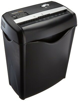 AmazonBasics 6-Sheet Cross-Cut Paper and Credit Card Shredder, NEW