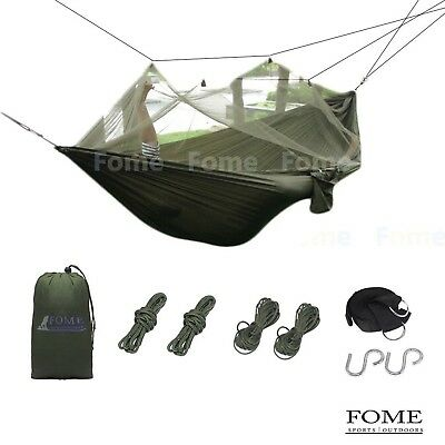 FOME SPORTS|OUTDOORS Ultralight Portable Parachute Fabric Hammock Hanging Bed