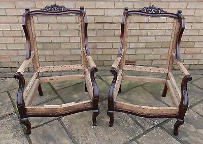 Late Victorian / Early Edwardian Armchairs - Traditional Re-Upholstery Project