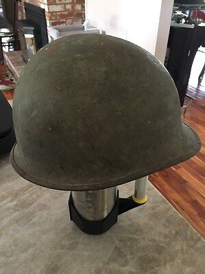 WW2 US Army M1 Helmet - Front Seam - Swivel Bails  - Pre 1944