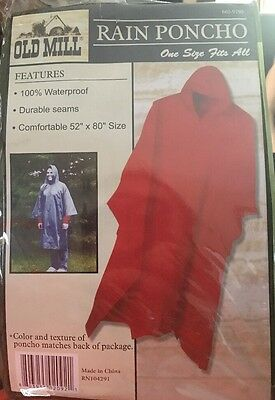 Rain Poncho Old Mill - Waterproof camping outdoor ONE SIZE FITS ALL - Army Green