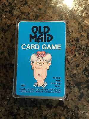 Vintage 1975 Old Maid Card Game Whitman #4902 Complete & Clean w/ Case