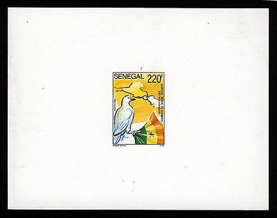 SENEGAL 1992 Senegal Contingent Gulf War PROOF or ESSAY on White Card