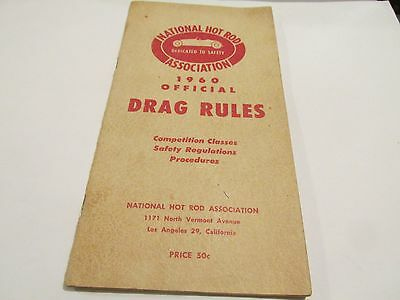 1960 Nhra Rule Book Drag Rules National Hot Rod Association