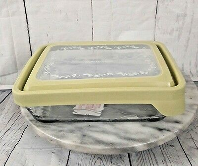 Princess House Fantasia Food Storage Glass Container  Bowl 6 cup Seal Tight NIB