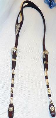 Vintage Victor Quality Sterling Silver Filigree One Ear Show Bridle Headstall