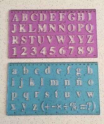 2 Stencil Set Letters Capital Alphabet Number Lettering Upper Lower