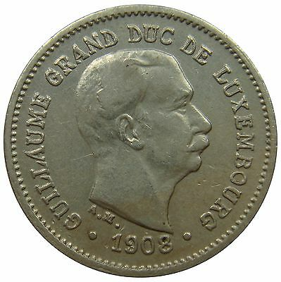 (C83) - Luxemburg Luxembourg - 5 Centimes 1908 - Guillaume IV - VF - KM# 26