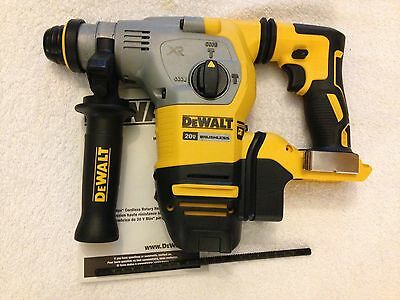 "New Dewalt 20 volt XR Brushless DCH293B 1-1/8"" L-Shape SDS Plus Rotary Hammer"