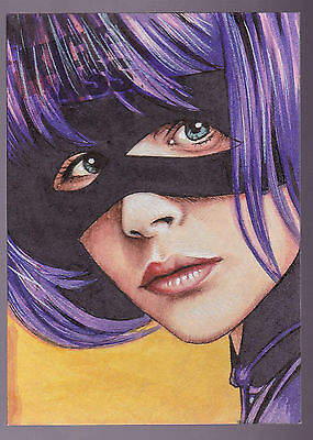 2010 Dynamic Forces Kick-Ass Trev Murphy 1/1 Hit-Girl portrait sketch auto -akc