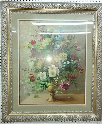 "Home Interior Rare Floral Vase Picture 40 1/2"" X 34 1/2"""