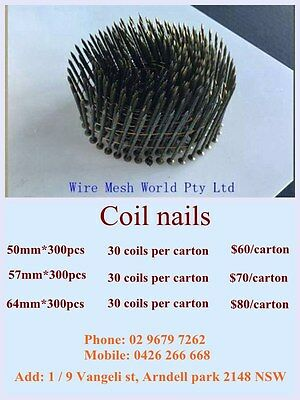 Gal coil nails / Fencing coil nails 50mm