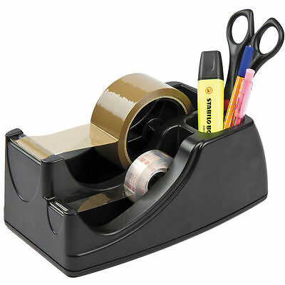Warehouse Heavy Duty Packing Tape Dispenser Adhesive Sticky Taping Black 2 Size
