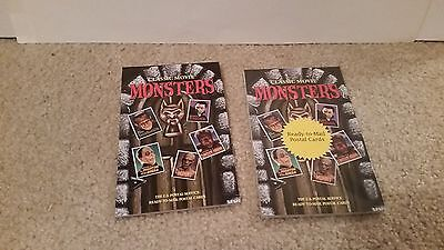 2 sets of CLASSIC MOVIE MONSTERS POSTAL CARDS 1 set sealed 1 set partial