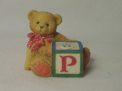 Enesco CHERISHED TEDDIES Bear With ABC Block P 158488P NEW NIB