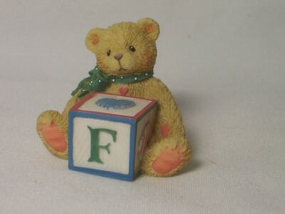 Enesco CHERISHED TEDDIES Bear With ABC Block F 158488F NEW
