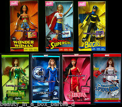 Wonder Woman Barbie Doll Supergirl Batgirl Poison Ivy Invisible Woman Mary Jane