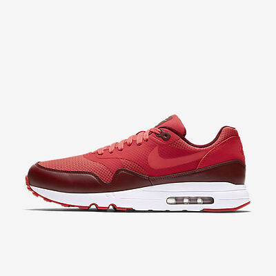 Nike Men's Air Max 1 Ultra 2.0 Essential Track RedTrack Red Team Red 875679 601 Size 10.5