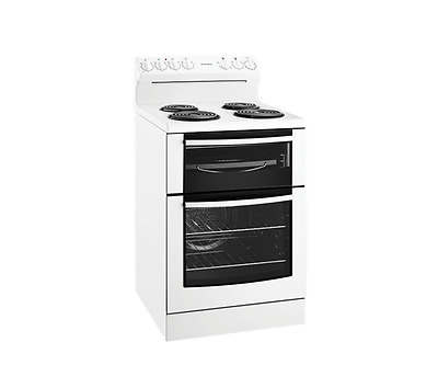 Westinghouse 60cm Upright White Electric Stove with Coil Hob - Model: WLE625WA