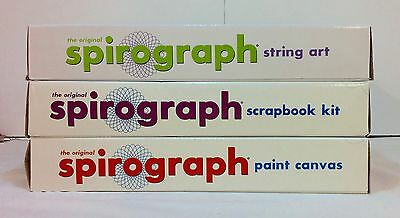 3xNIB SPIROGRAPH kits String Art / Scrapbook Kit / Paint Canvas Vintage toy set