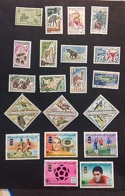 Mauritanie VF Mint NH & Hinged, Used
