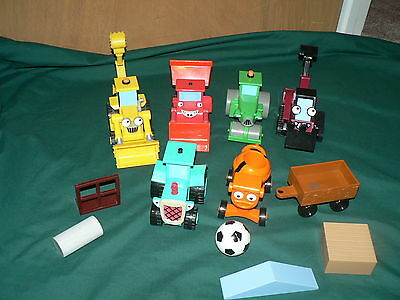 Lot of 6 Bob the Builder TALKING cars vehicles and accessories Roley Travis Ben