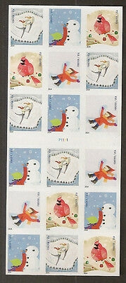 US 4944b Holiday Winter Fun forever ATM booklet 18 MNH 2014