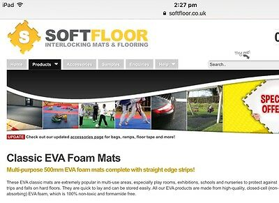 Classic EVA Foam Mats - Multi-purpose Mats, Interlock With Straight Edge Strips