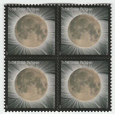 US 5211 Total Eclipse of the Sun forever block (4 stamps) MNH 2017