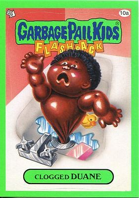 Garbage Pail Kids Flashback Series 3 Green Parallel Base Card 10a Clogged DUANE