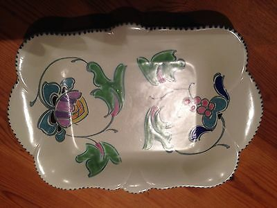Pretty Honiton Pottery hand-painted trinket tray - Newton