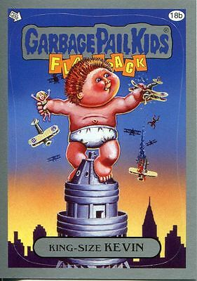 Garbage Pail Kids Flashback Series 3 Silver Parallel Base Card 18b King-Size KE