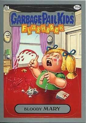 Garbage Pail Kids Flashback Series 3 Silver Parallel Base Card 35a Bloody MARY