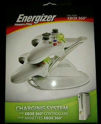 Energizer power & play for xbox 360 controllers stand and charging system