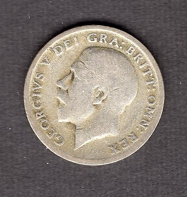 Great Britain George V Silver Sixpence 1921 nice coin R36011
