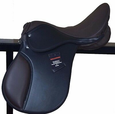 Premium Synthetic Saddle In Two Tone Black And Brown 14,15,16,17&18 Free Shippin