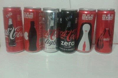 """""""100 Years of Coca Cola Bottle"""" 6 Anniversary cans COMPLETE SET 330 ml (Austria)"""