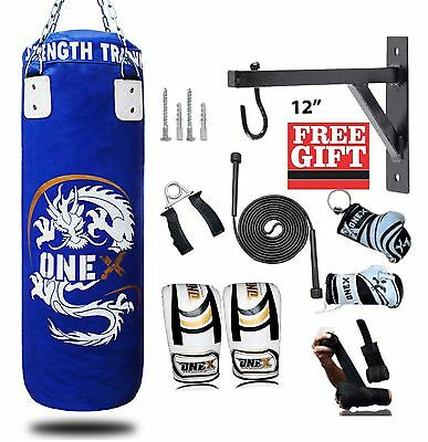 New OneX Supper Quality 3Fit Punch Bag,Chain,Gloves(10 Pcs MMA Boxing Kit)