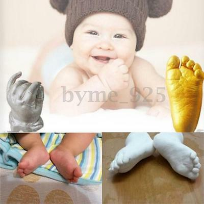100g Keepsake Gift 3D Plaster Handprint Footprint Baby Kid Hand&Foot Casting Kit