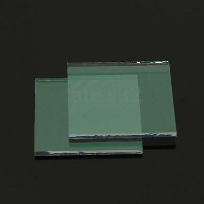 2Pcs Clear Transparent Indium Tin Oxide (ITO) Conductive Glass Slide 20x20x1.1mm
