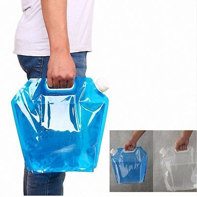 5L Folding Drinking Water Container Storage Bag Pouch for Camping Hiking Picnic