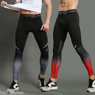 High-elastic Mens Compression Leggings Fitness Gym Sports Base Layer Pants