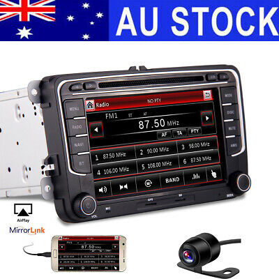 "HD 7"" 2 Din In Dash Car Stereo DVD Player GPS Navigation Bluetooth Radio+AU MAPs"